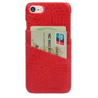 CROC CARD HOLDER PHONE CASE RED