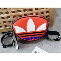 Adidas Hot Selling Lady's Large LOGO Coloured Small Shoulder Bag Red