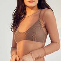 Out From Under Fishnet Long Sleeve Top | Urban Outfitters