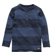 H&M - Henley Shirt - Dark blue - Kids