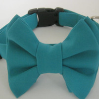 Dog Bow Tie Collar Removable Bow Tie And Collar Dog Collar with Bow Tie Large Dog Collar Wedding Dog Collar Pet Collar