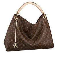 LV Women Shopping Leather Tote Handbag Shoulder Bag Louis Vuitton Monogram Canvas Arts