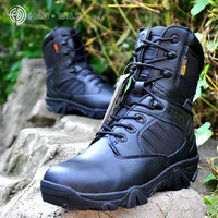 Han Wild Brand Desert Tactical Military Hiking leather Boots Men Shoes Outdoor Hiking Travel Climbing Men Boot high type