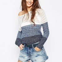 Only Stripe Block Knit Jumper