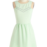 ModCloth Pastel Short Length Sleeveless A-line Yes to Finesse Dress
