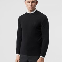 """""""Burberry"""" Men Solid Color All-match Fashion Letter Logo Round Neck Long Sleeve Base Shirt Sweater Tops"""