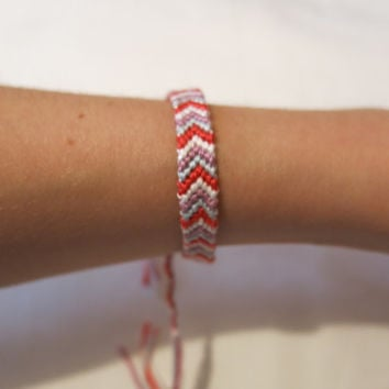 Chevron String Bracelet Or Anklet, Summer Bracelet, Colorful And Rasta Bracelet, Friendship Bracelet, String Anklet, String Bracelet