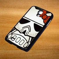 Hello Kitty Stormtrooper For Samsung Galaxy S4 Case *76*