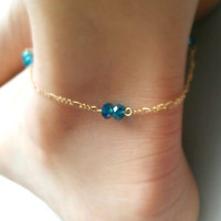 Gold or silver Anklet, ankle bracelet fashion jewelry
