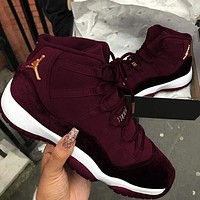 "Air Jordan 11 RL GG red ""velvet"" AJ11 sports basketball shoes sports shoes"
