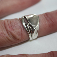 Sterling Vintage Nouveau Style Ring Statement 1960s Jewelry
