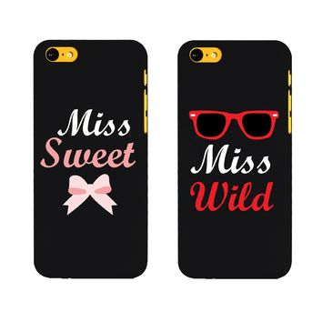 BFF Phone Covers Miss Wild and Miss Sweet Matching Phone Cases for Iphone 5C Gift for Best Friends