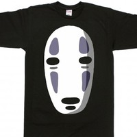 No Face-Unisex Black T-Shirt