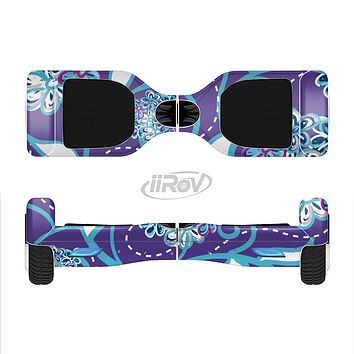 The Purple & Blue Vector Floral Design Full-Body Skin Set for the Smart Drifting SuperCharged iiRov HoverBoard