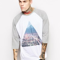ASOS Oversized Long Sleeve T-Shirt With Tokyo Print