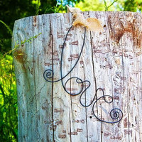 Fall Wedding Decoration 10 Rustic LOVE wire hanging aisle chair decorations whimsical country chic photo prop