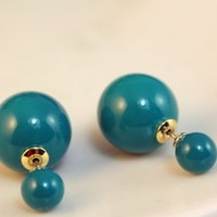 Pearl Stud Earring-fashionable Pearl Earring-dior Style Pearls Earrings - Perfect As a Gift for Her (Lake blue)