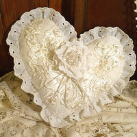 Victorian Heart Shaped Vintage Ring Bearer Wedding by PapernLace