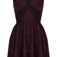 Eyelash Lace Print Tunic - Going Out - Collections - Topshop