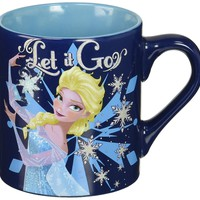 "Disney DP4932G Frozen Elsa ""Making Let it Go"" Ceramic Mug Glitter, 14 oz, Multicolor"
