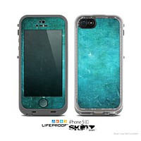 The Grunge Green Textured Surface Skin for the Apple iPhone 5c LifeProof Case