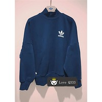 adidas Originals High Neck Sweatshirt With Trefoil Logo