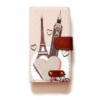 LG G4 Wallet Eiffel Tower Big Ben G4 Wallet Case Paris London For LG G4 Romantic LG G4 Wallet Vintage Girly Cute L575