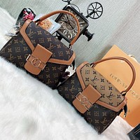 LV Fashion print flip cover cross-body bag lady