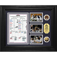 New York Yankees 2009 World Series Champs inGame 6 Line Up Cardin 24KT Gold Coin Photo Mint