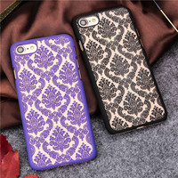 New Arrival Phone Case for iPhone 6 6S 6Plus 7 7Plus Damask Vintage Flower Pattern Luxury For iphone6 Plus Back Cover Cases