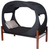Privacy Pop Bed Tent (Twin XL) - BLACK