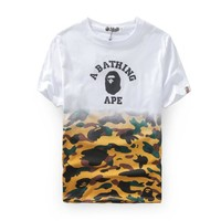 New men's tide brand camouflage printing short-sleeved men and women couples cotton leisure [429894008868]