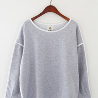Gray Long Sleeved Shirt with White Lining