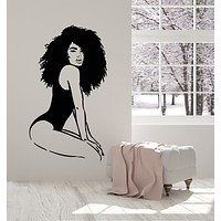 Vinyl Wall Decal African Beauty Sexy Body Black Lady Spa Salon Stickers Mural (g2739)