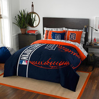 Detroit Tigers MLB Full Comforter Bed in a Bag (Soft & Cozy) (76in x 86in)