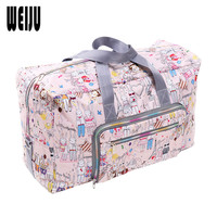 Large Waterproof Print Travel Duffle Bag