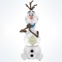 disney parks frozen olaf light-up color change snowglobe resin new with tags