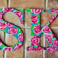 Lily Pulitzer Inspired Print Sorority Letters