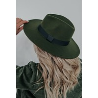 Leave A Trail Hat: Forest Green/Black