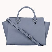 Meg Leather Bag Satchel Available in Grey, Blue & Brown