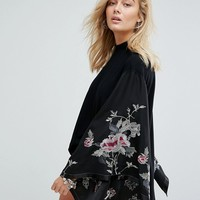 Free People Embroidered Kimono Top at asos.com