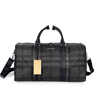 BURBERRY MEN'S LEATHER  HANDBAG SHOULDER BAG TRAVEL BAG