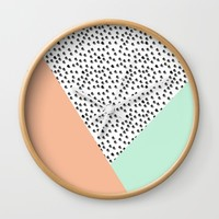 Mod Palm Springs - Abstract Wall Clock by Allyson Johnson | Society6
