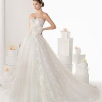 White Ball Sweetheart Lace Tulle 2014 Wedding Dress IWG0044 -Shop offer 2013 wedding dresses,prom dresses,party dresses for girls on sale. #Category#