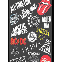 All Time Low, Arctic Monkeys ACDC 5SOS Band Logo iPhone 5c Cases- Hard Plastic, Rubber Case