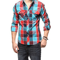 rue21 :   LARGE BUFF PLAID RED