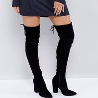 ASOS KARMA Pointy Over The Knee Boots at asos.com