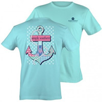 "Simply Southern ""Anchor"" Tee - Blue"