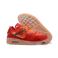 OFF White x Nike Air Max 90 Running Shoes 40-46
