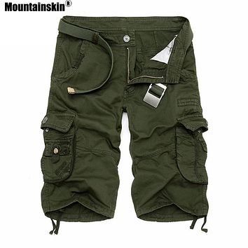 Men's Solid or Camouflage Camo Cargo Shorts Military Style Men Jogger Male Board Shorts FREE SHIPPING